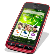 Doro Liberto 820 Mini Smartphone - ruby/black