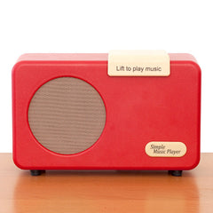 Simple Music Player - Retro Red