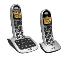 BT 4600 Twin Cordless Big Button Phone with Nuisance Call Blocker and Answerphone