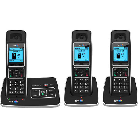 Picture of BT 6600 Triple Cordless Phone with Answer Machine and Nuisance Call Blocking