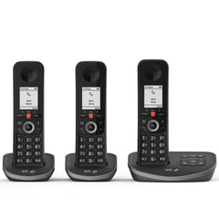 BT Advanced Trio Cordless Phone with Answer Machine and Nuisance Call Blocking - NEW!