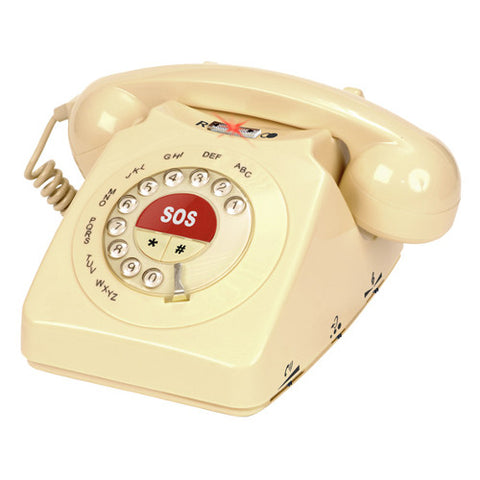 Picture of Geemarc CL60 Classic Rotary Style Loud Telephone with SOS Button