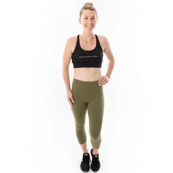 Core Range 7/8 Leggings Khaki