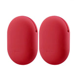Geekria Earbuds Silicone Case for JVC HAEB75B, HAEB75A, HAEBR80A, HAEBR80B, HAEBR80R, HAEBR80S, Bose QC20 Earbud Protection Squeeze Pouch / Pocket Soft Headphones Storage Bag (Red, Size M, 2Packs)