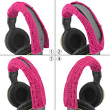 Geekria Headphone Headband For Skullcandy,Parrot Zik, Bose, AKG, Sennheiser, Sony, Beats, Audio-Technica Replacement Headband Cover / Comfort Cushion / Top Pad Protector (Rose Red)