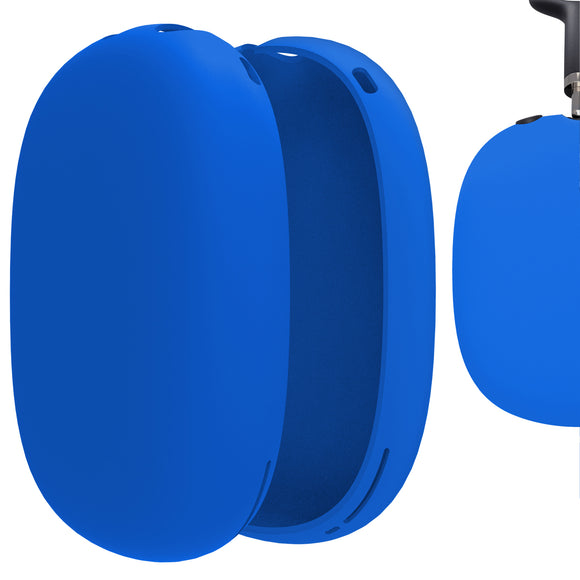 Geekria Silicone Skin Cover for AirPods Max Headphones, Scratch Protection Case / Earpieces Cover / Headset Speakers Skin Protector (Blue)