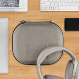 Geekria UltraShell Headphone Case for Sony WH1000XM3, WH1000XM2, WH-XB900N, MDR1000X Headphones - Replacement Protective Hard Shell Travel Carrying Bag with Room for Accessories (Silver Gold)