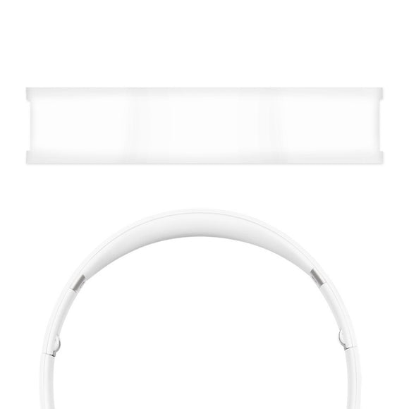 Geekria Headband Pad Replacement for Solo HD, SoloHD, Solo 1.0, Solo1.0 On-Ear Headphones Replacement Headband / Silicone Rubber Cushion Pad Repair Parts (White)
