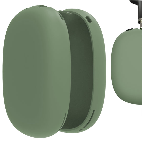 Geekria Silicone Skin Cover for AirPods Max Headphones, Scratch Protection Case / Earpieces Cover / Headset Speakers Skin Protector (Green)