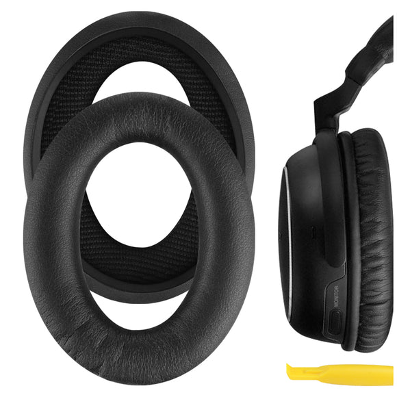 Geekria QuickFit Protein Leather Ear Pads for SONY MDR-NC60 Headphones, Replacement Ear Cushion / Ear Cups / Ear Cover, Headset Earpads Repair Parts (Black)