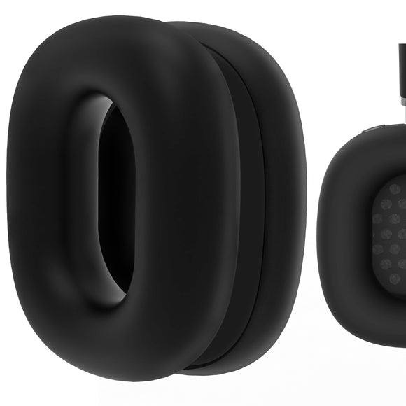 Geekria Silicone Earpad Covers for AirPods Max, Earpad Protector / Earphone Covers / Earpad Cushion / Ear Pad Covers / Headphone Covers, Easy Installation No Tool Needed (Black)