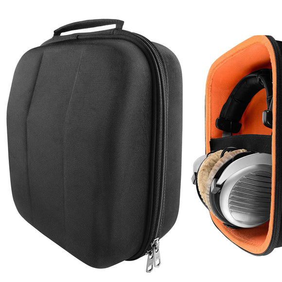 Geekria UltraShell Headphone Case for Sennheiser HD820, HD800 S, HD700, Beyerdynamic DT-1990 pro, DT-1770 pro, DT-790, DT 770, Amiron Headphones and More, Large Hard Shell Travel Carrying Bag