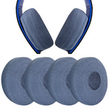 "Geekria 2 Pairs Sweater Earphone Cover Headphone Ear Cushions / Stretchable Knit Fabric Earpad Protectors / Fits 4.33"" - 6.29"" Inches for Sony PS4, MDR-HW700, AKG K702, K701 Headphones (Blue)"