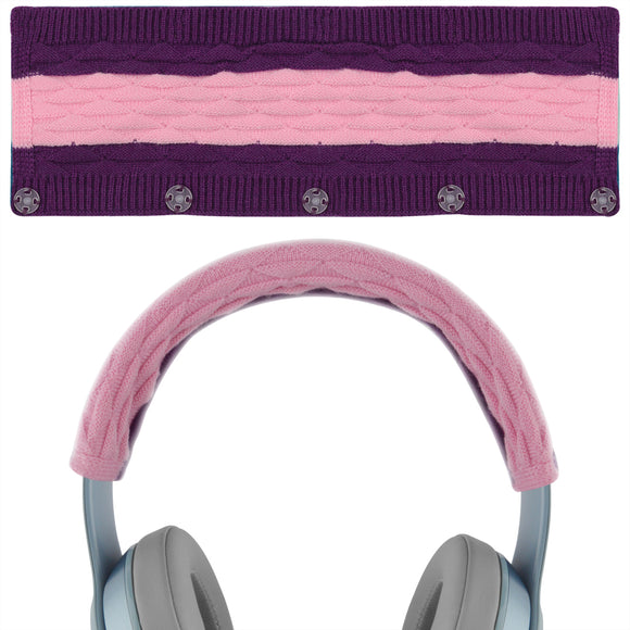 Geekria Sweater Knitting Headphone Headband, Compatible with Beats Solo3, Solo2 Wireless Headphones / Stretchable Knit Fabric Headband Cover / Comfortable Protector Sleeve (Pop Violet)