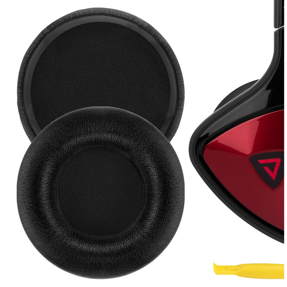 Geekria QuickFit Protein Leather Ear Pads for Monster DNA On-Ear Headphones, Replacement Ear Cushion / Ear Cups / Ear Cover, Headset Earpads Repair Parts (Black)