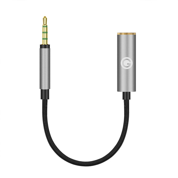 Geekria Apollo 4.4MM Balanced Female to 2.5MM Balanced Male Adapter Cord / 5 Cores Conversion Audio Cable, aluminum alloy casing, PP yarn-braided Upgrade Cable (5.5 inches)