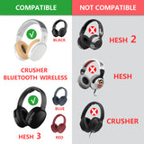 Geekria Replacement Earpad for Skullcandy Hesh3, Hesh 3, Crusher Wireless Headphones Ear Pad / Ear Cushion / Ear Cups / Ear Cover / Earpads Repair Parts (Black)