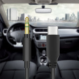 Geekria Type-c to 3.5mm Aux Cable 3.5mm Male to USB-C Male Cable for Car Stereo, Compatible Google Pixel 3/3 XL/2/ 2XL, Moto Z, Huawei, LG, Nexus, MacPro Air (3.5mm Male to Type-c, Black 4.9ft)