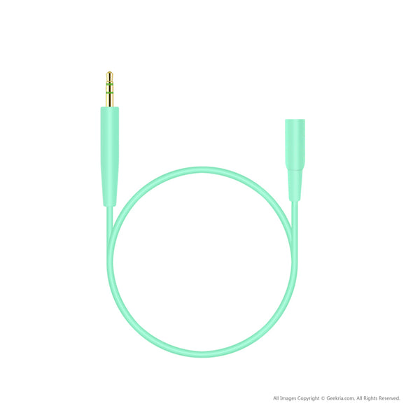 2.5 mm Male to 3.5 mm Female Cable for Bose SoundTrue / SoundTrue II, QuietComfort QC25 / 10 inch Short Stereo Headset Audio Adapter Cord (Mint)