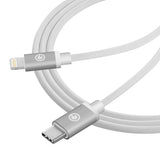 Geekria Charger Cable for Beats Solo Pro, Light-ning to Type C PD Fast Charging Cord, Compatible with Chromebook, MacBook, iPad Pro And USB-C Cellphones (3FT, White)