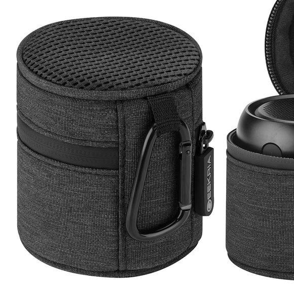 Geekria Pendant Speaker Case for Anker Soundcore Mini, SoundBot SB510, Etekcity RoverBeats T3speaker, with Mesh cover for External spreading when camping, biking, traveling, Portable Travel bag