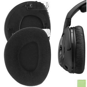 Geekria Comfort Velour Ear Pads for Sennheiser RS160, HDR160, RS170, HDR170, RS180, HDR180, Headphones, Replacement Ear Cushion / Ear Cups / Ear Cover, Headset Earpads Repair Parts