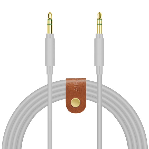 Geekria QuickFit Cable Replacement for Beats Solo3, Solo2, Solo HD, Studio3, Studio2.0, Studio Wireless, Mixr, Executive / Tangle-Free Premium Headphone Audio Cord (3.5mm male to male, Grey 5.6ft)