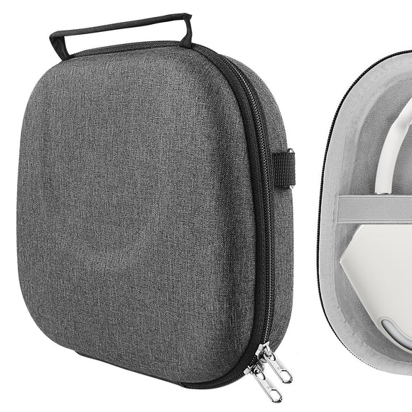 Geekria UltraShell Case for AirPods Max Headphones, Replacement Protective Hard Shell Travel Carrying Bag with Room for Smart Case and Accessories Storage (Dark Gray)