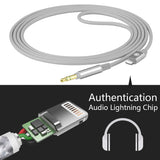 Geekria QUICKFIT Digital Audio Cable Replacement for Beats solo2, solo3, wireless, 3.5 Female Headphones, Stereo Cord Works with iPhone 6, 7, 8, X, XS, XR, Plus, iPad, (5.6FT Gray)