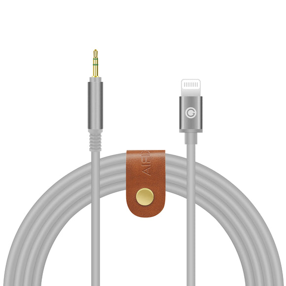 Geekria QucikFit Digital Audio Replacement Cable for BOSE QC35, QC25, AKG Y45BT, Y50, JBL E50BT, 2.5mm plug Headphones Stereo Cord Works with iPhone 6, 7, 8, X, XS, XR, iPad Pro (5.6FT Gray)