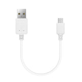 Geekria Headphones Charging Cable for Beats Solo3, Solo2, Studio 3 Wireless, AKG N60NC, Y45bt, Y50bt Headphones Charging Cord, Micro-USB Charger Cable (White 1ft)