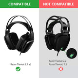 Geekria QuickFit Protein Leather Ear Pads for Razer Tiamat 7.1 V2 Headset, Replacement Ear Cushion / Ear Cups / Ear Cover, Headphones Earpads Repair Parts (Plastic Ring)