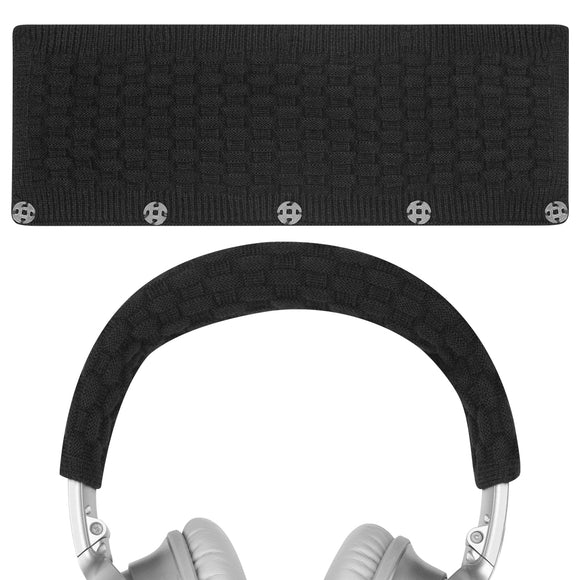 Geekria Headphone Headband cover Replacement for Bose, AKG, Sennheiser, Sony, Beats, Audio-Technica Replacement Headbands Cover / Comfort Cushion / Top Pad Protector Sleeve (Black)