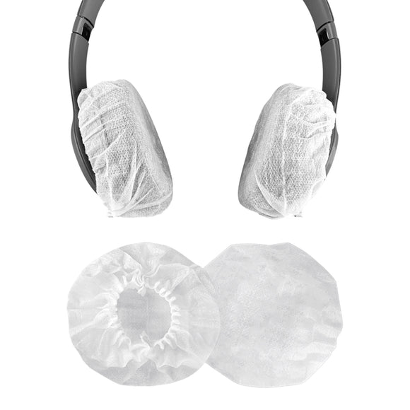 Geekria 10 Pairs Small Stretchable Earphone Covers / Earpad Covers / Disposable Sanitary Earcup, Fits Sennheiser Urbanite, HD 25 LIGHT, HD 25 Plus, HD 25, AKG N60NC, Y500 WIRELESS Headphones (White)