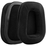 Geekria QuickFit Mesh Fabric Ear Pads for Logitech G633, G933 Headphones, Replacement Ear Cushion / Ear Cups / Ear Cover, Headset Earpads Repair Parts (Black)