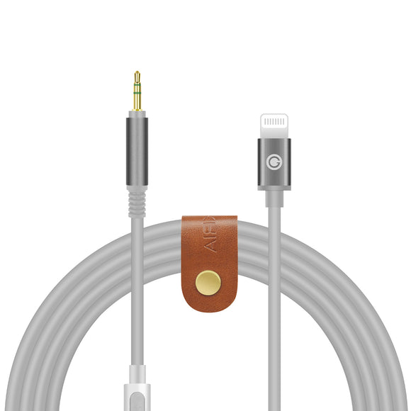 Geekria QuickFit Digital Audio Replacement Cable for BOSE QC35 II, QC25, AKG Y500, Y50BT, Y50, Sennheiser PX210, PX310, PXC550 Stereo Cord with Mic, Works with iPhone, X, XS, XR, iPad (5.6FT Black)
