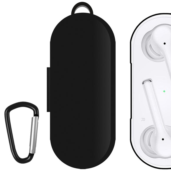 Geekria Silicone Case for Huawei FreeBuds 3i 2020, Charging Case, Protective Carrying Case Travel Bag, Fit Huawei FreeBuds3i Wireless Earbud (Black)