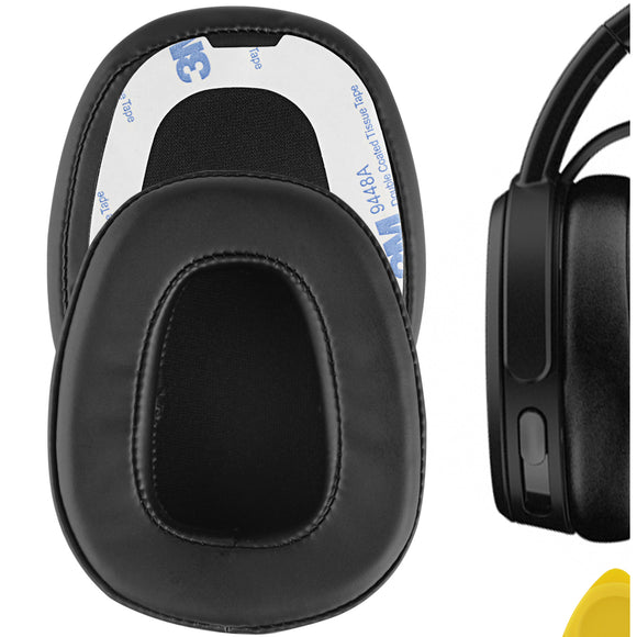Geekria QuickFit Protein Leather Ear Pads for Skullcandy Crusher Wired Headphones, Replacement Ear Cushion / Ear Cups / Ear Cover, Headset Earpads Repair Parts