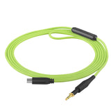 Geekria QuickFit Audio Cable with Mic Replacement for AKG K450 K451 K452 Q460 K480 Headphones - 3.5mm Stereo Cord with Microphone and Volume Control, Works with Apple, Android Device (Green 4 ft)