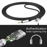 Geekria QuickFit Digital to Audio Cable Replacement for BOSE QC35, Series I, II, QC25, AKG Y500, Y50, Headphones 2.5mm Male AUX Stereo Cord Works with iPhone 6, 7, 8, X, XS, XR (5.6FT Black)