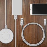 Geekria QuickFit Speaker Charging Cable for Bose SoundLink Mini SoundLink Beats Pill + OontZ Angle Jabra FREEWAY JBL Charge Clip Flip Echo Dot Charging Cord Micro USB Charger Cable (White 4ft)