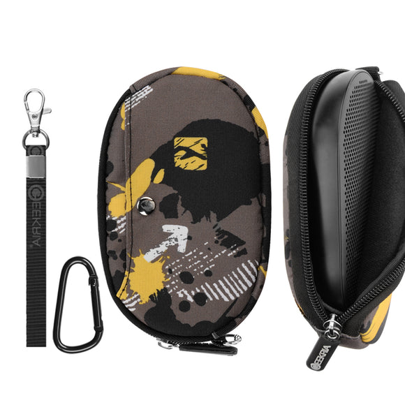 Geekria Soft Storage Case for B&O Beoplay P2 Bluetooth Speaker, Bang & Olufsen P2 Portable Wireless Speaker Carrying Bag, Protective Pouch, Wearable Lightweight for Travelling (Camouflage)