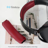 Geekria Headband Replacement for SONY MDR-XB950BT MDR-XB950N1 MDR-XB950B1 MDR-XB950/H Headphones Replacement Headband / Rubber Cushion Pad Repair Parts (Dark Red)