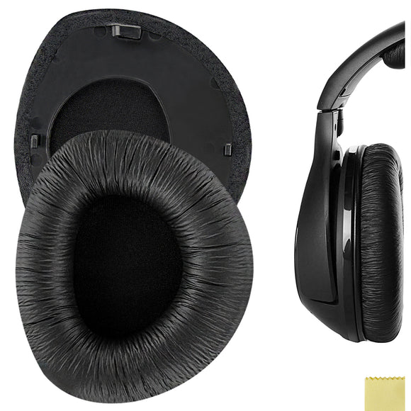 Geekria QuickFit Protein Leather Ear Pads for Sennheiser RS160, HDR160, RS170, HDR170, RS180, HDR180, Headphones, Replacement Ear Cushion / Ear Cups / Ear Cover, Headset Earpads Repair Parts