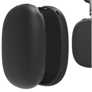 Geekria Silicone Skin Cover for AirPods Max Headphones, Scratch Protection Case / Earpieces Cover / Headset Speakers Skin Protector (Black)