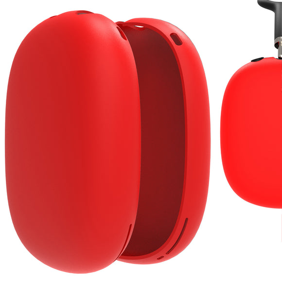 Geekria Silicone Skin Cover for AirPods Max Headphones, Scratch Protection Case / Earpieces Cover / Headset Speakers Skin Protector (Red)
