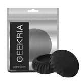 "Geekria Flex Fabric Headphone Earpad Covers / Stretchable and Washable Sanitary Earcup Protectors. Fits 1""-3"" On-Ear Headset Ear Cushions / Good for Gym, Training (Black, 2 Pairs)"