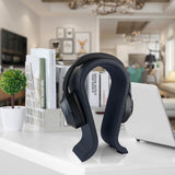 Geekria Leather Headphone Stand for Sony, Bose, JBL Headsets, Headset Stand, Earphone Holder Table Desk Display, Medium Over-Ear Headphones Rack Hanger (Dark Blue) L