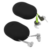 Geekria Earbuds Silicone Case for Jaybird X3, X2, BlueBuds X, Freedom, Bose SoundSport, SoundTrue, Earbud Protection Squeeze Pouch / Pocket Soft Earphone Storage Bag (Black, Size S, 2 Packs)