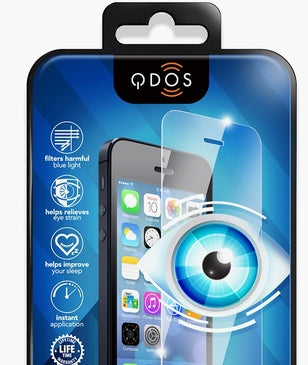 QDOS OPTIGUARD TG glass screen protector with blue shield detail 3
